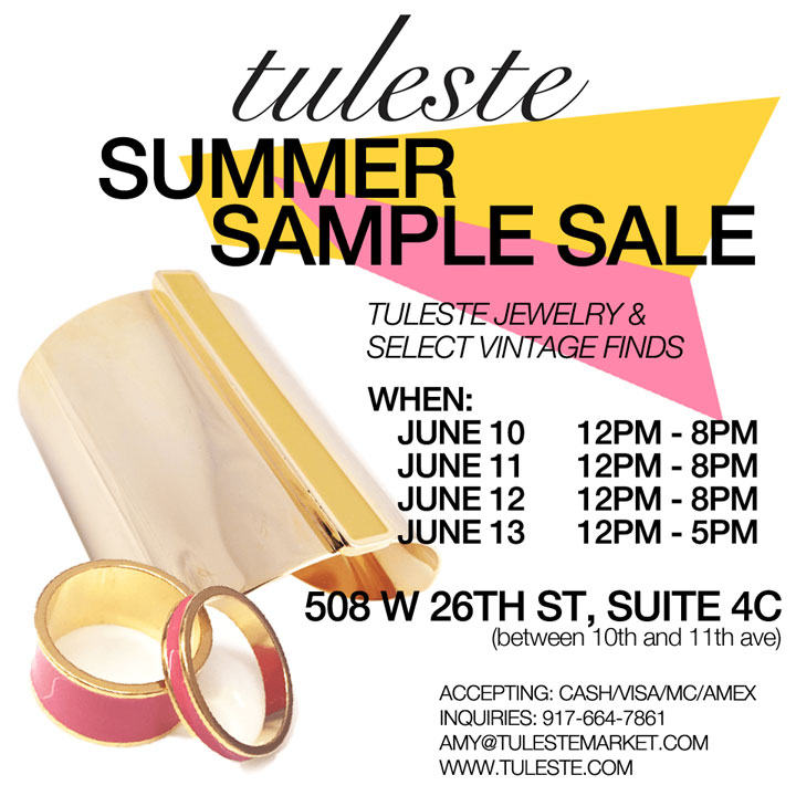 Tuleste Summer Sample Sale
