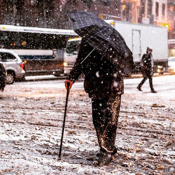 Umbrella & Cane @cubieking #Blizzardof2015