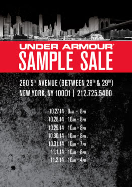Under Armour Sample Sale