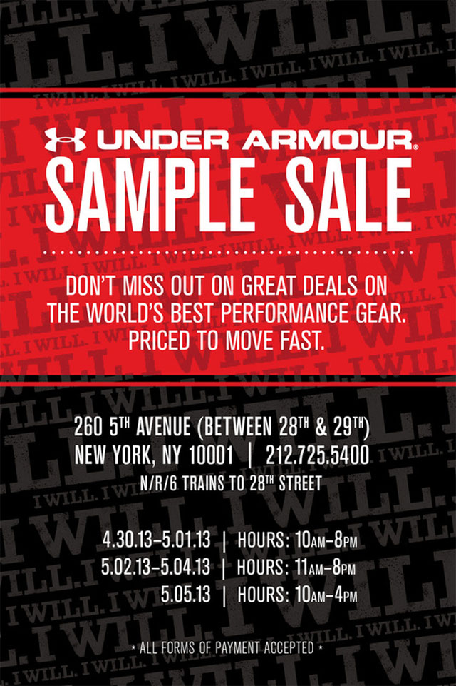 Under Armour Sample Sale