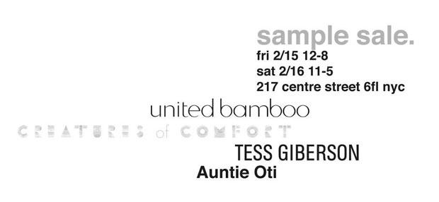 United Bamboo Sample Sale