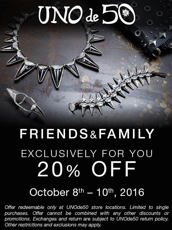 Uno de 50 Friends & Family Sale