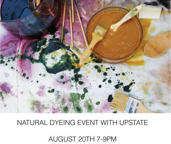 Upstate + Jill Lindsey Dyeing Workshop