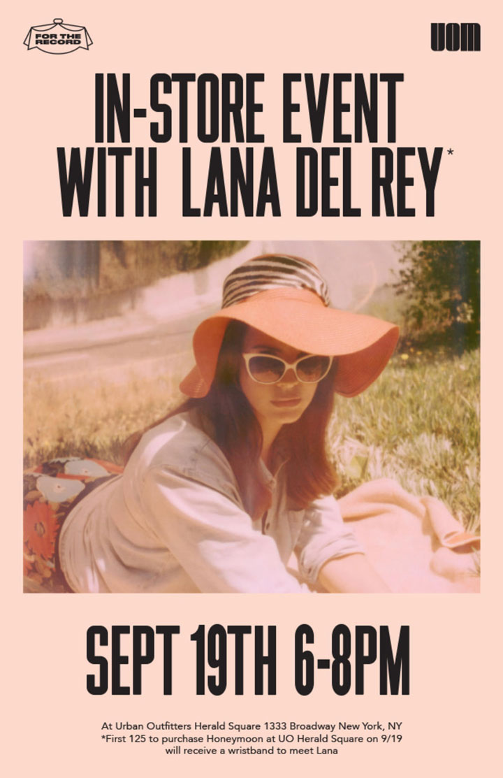 Urban Outfitters In-Store Event with Lana Del Rey