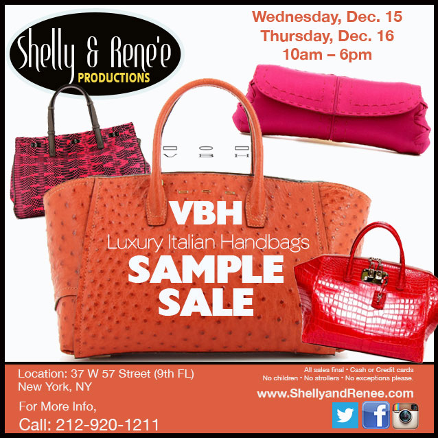 VBH Luxury Italian Handbags Sample Sale