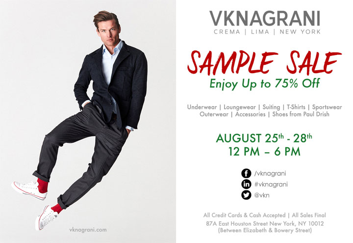 VK Nagrani Sample Sale