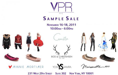 VPR Sample Sale