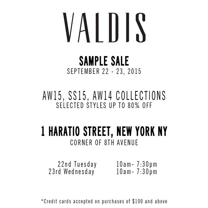 Valdis Sample Sale