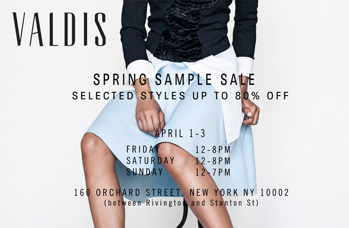 Valdis Spring Sample Sale