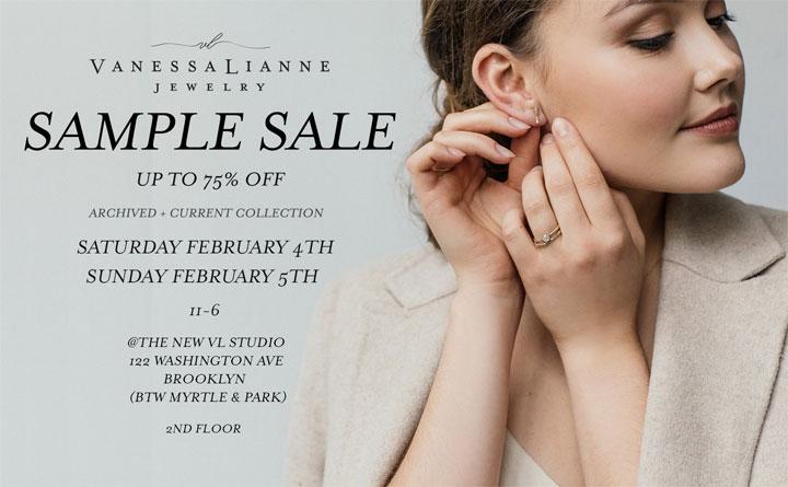 Vanessa Lianne Jewelry Sample Sale