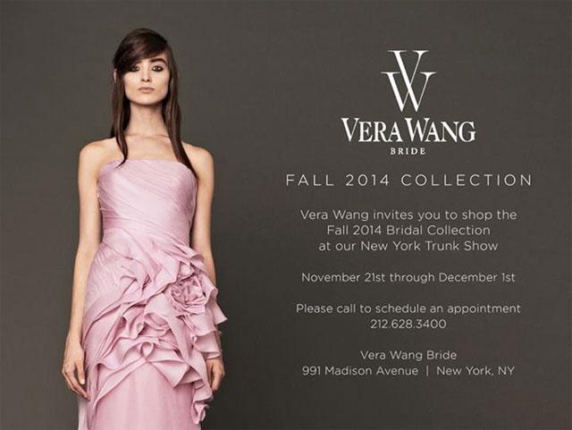 Vera Wang Bridal New York Fall 2014 Trunk Show ...