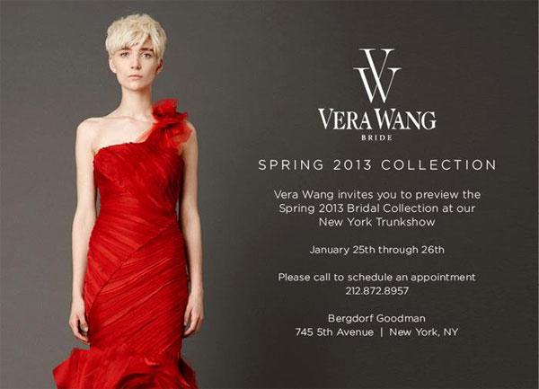 Vera Wang Bridal Spring 2013 Trunk Show