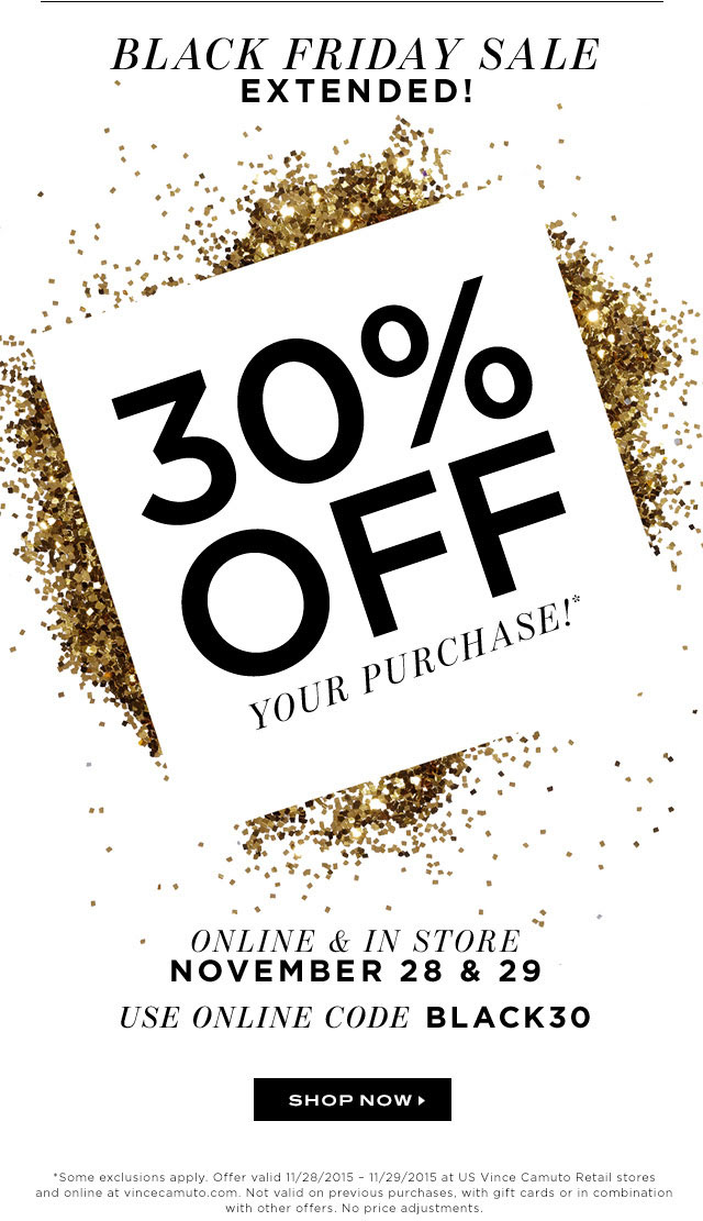 Vince Camuto Black Friday Sale