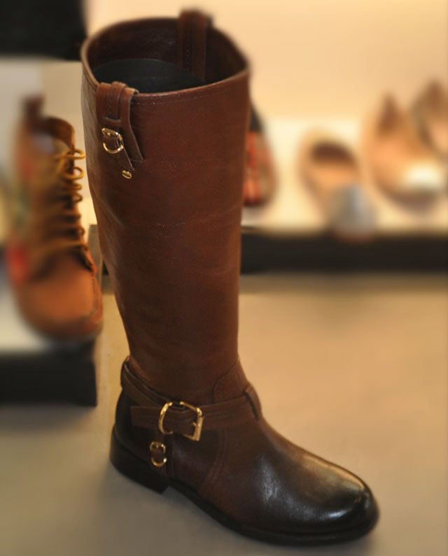 Vince Camuto Brown Kabo Boot with a distressed leather toe ($99, orig. $239)