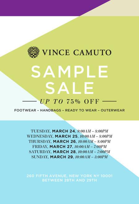 Vince Camuto Sample Sale