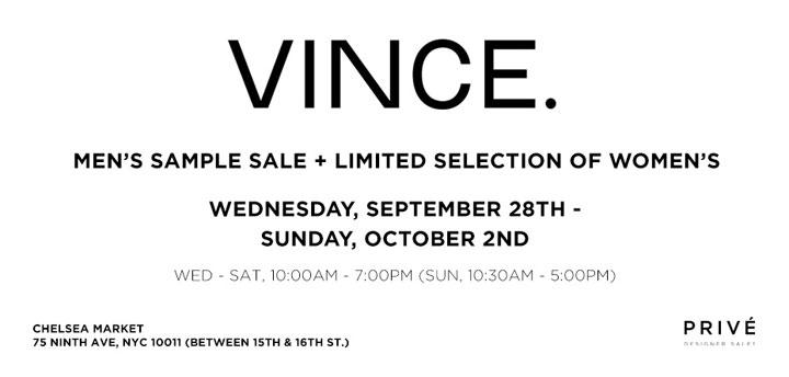 VINCE. Sample Sale