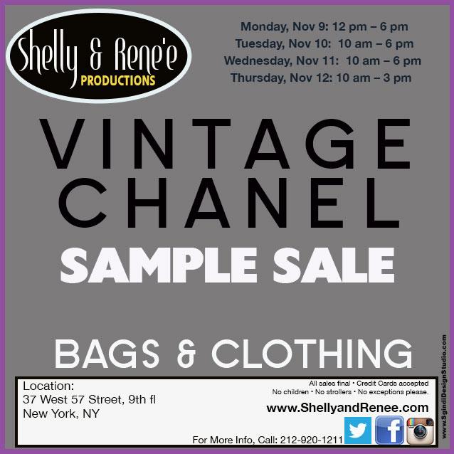 Vintage Chanel Clothing & Handbags New York Sample Sale ...