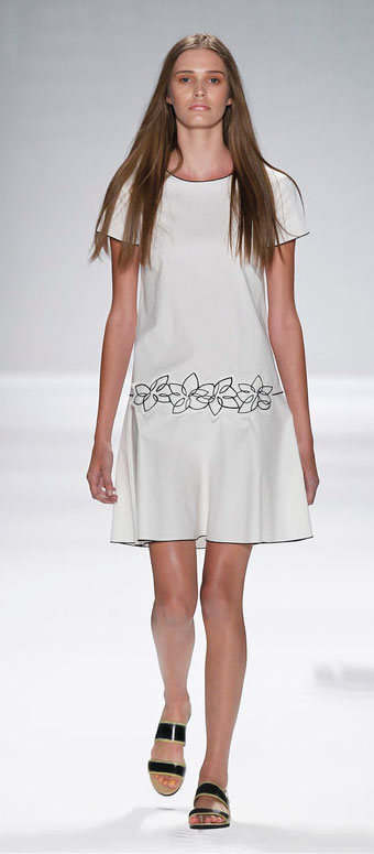 the Contrast Edging Dropped Waist Dress: $180 (orig. $380)