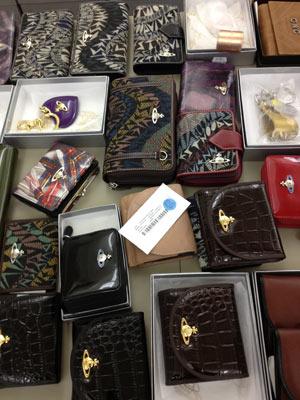 Piccolla Delletteria Squiggle Leather Wallet for $97.50