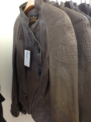 Leather Appetize Jacket in a dusted grey ($350)