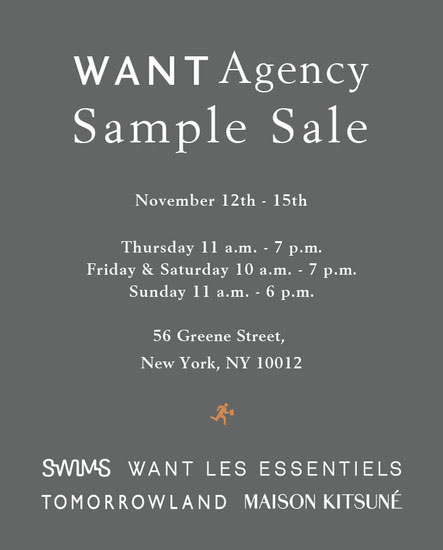 WANT Agency Sample Sale