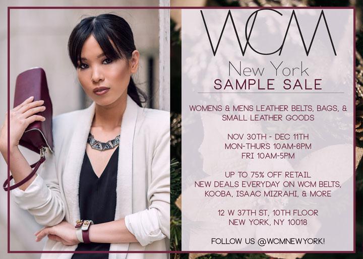 WCM New York Sample Sale