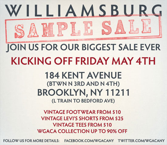 What Goes Around Comes Around Sample Sale
