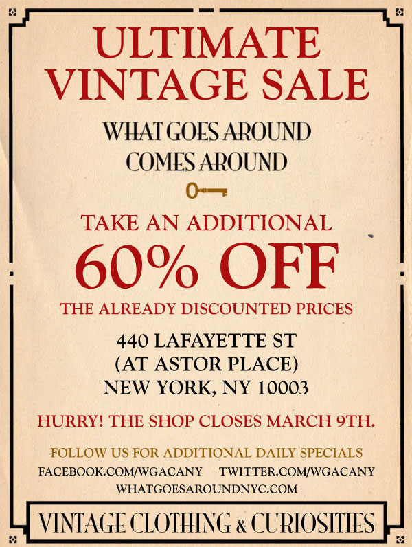 What Goes Around Comes Around Ultimate Vintage Sale