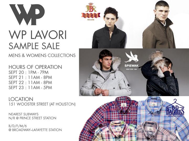 WP Lavori Sample Sale