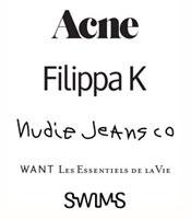 Acne, Filippa K, Nudie Jeans, & Want L.E.V Sample Sale