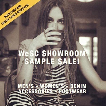 WeSC Showroom Sample Sale