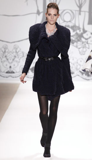 Your Majesty wool hand knit coat, original $430, now $60