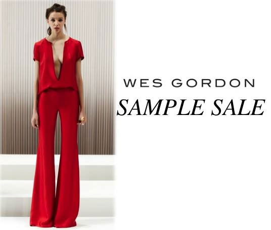 Wes Gordon Sample Sale