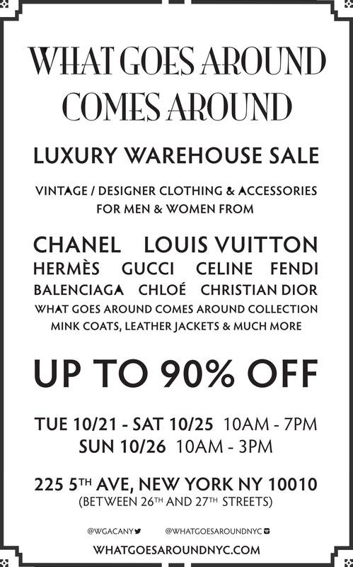 What Goes Around Comes Around Luxury Warehouse Sale