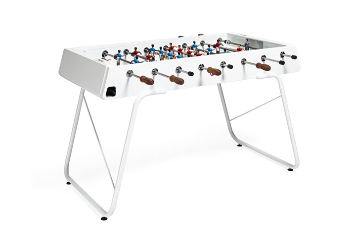 White steel foosball table originally 3 500 now 2 800 for Abc carpet outlet sale