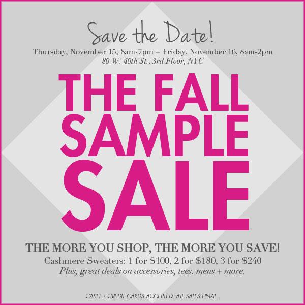 White + Warren Sample Sale