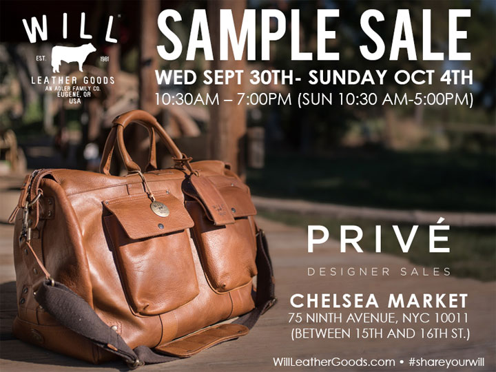 Will Leather Goods Sample Sale