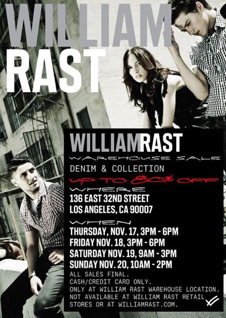 William Rast Sample Sale