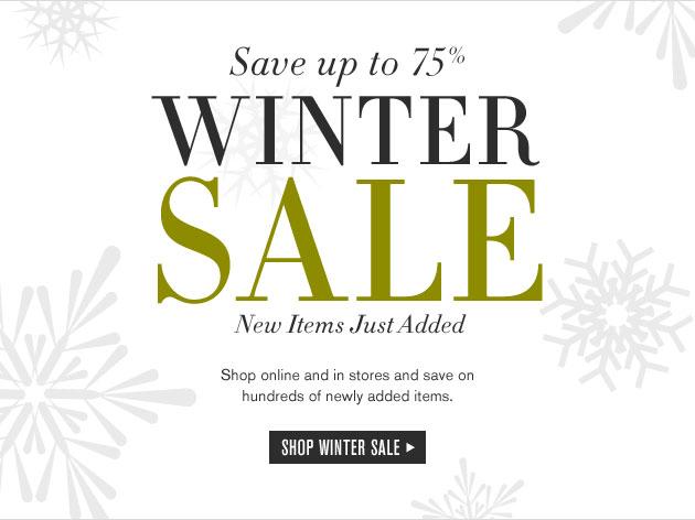 Williams-Sonoma Winter Retail Sale