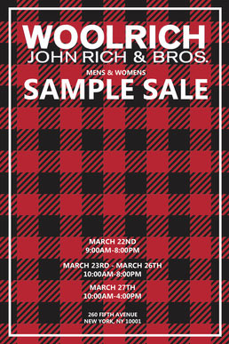 Woolrich Sample Sale