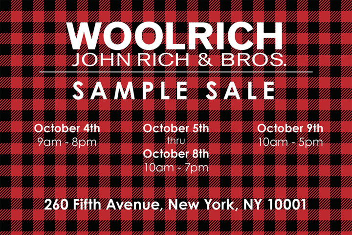 Woolrich Sample Sale