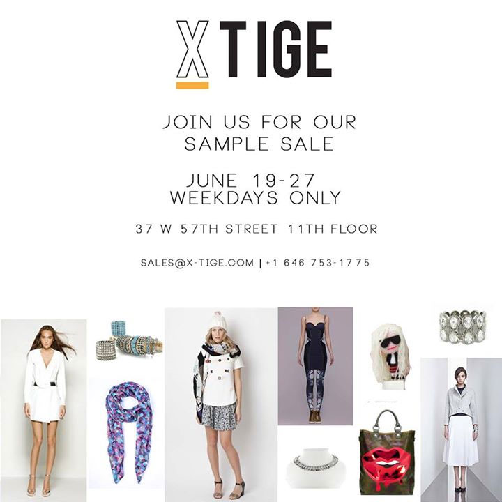 X'Tige Annual Summer Sample Sale