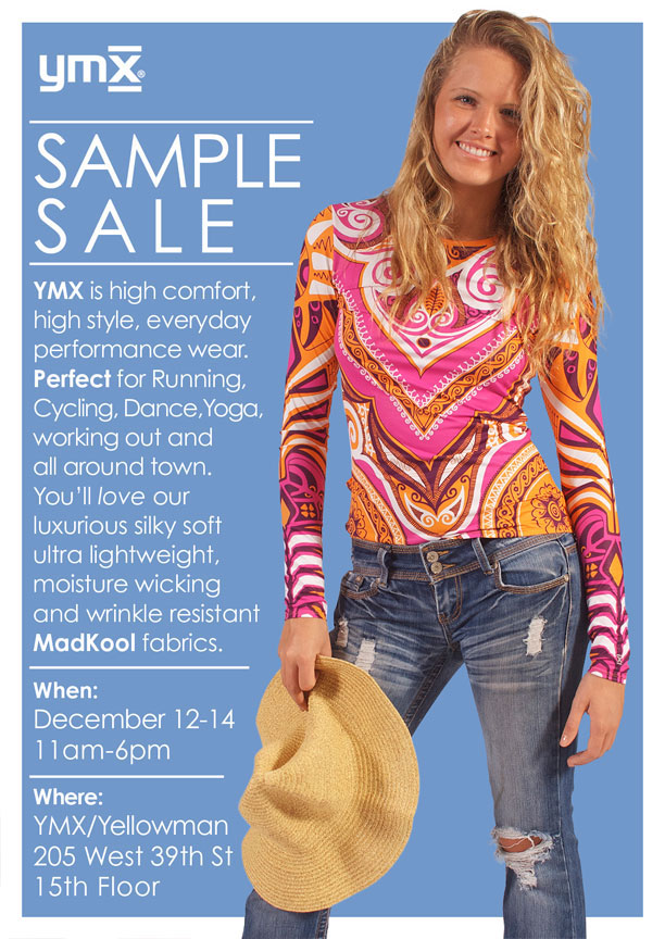 YMX Athletic Apparel Sample Sale
