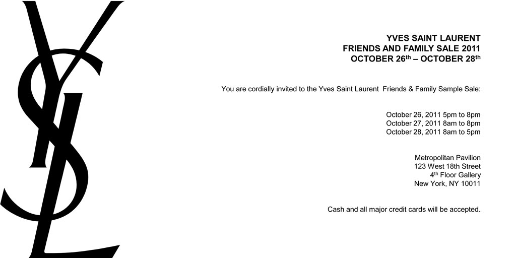 YSL Friends and Family Sale