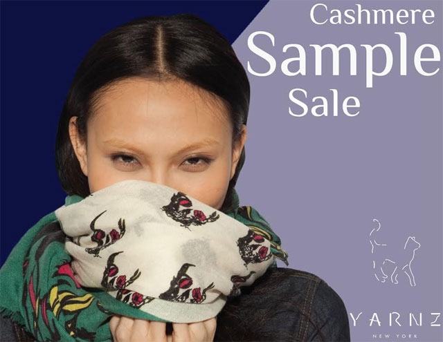 Yarnz Cashmere Holiday Sample Sale