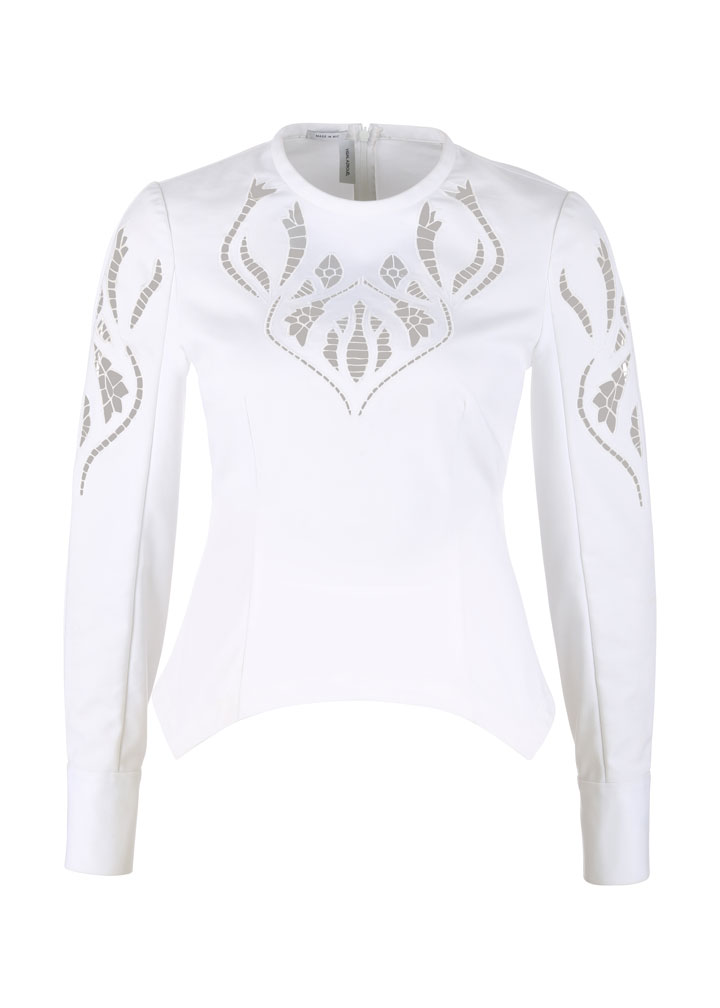 Yigal Azrouel Embroidered Peplum Top: $120 (orig. $790)