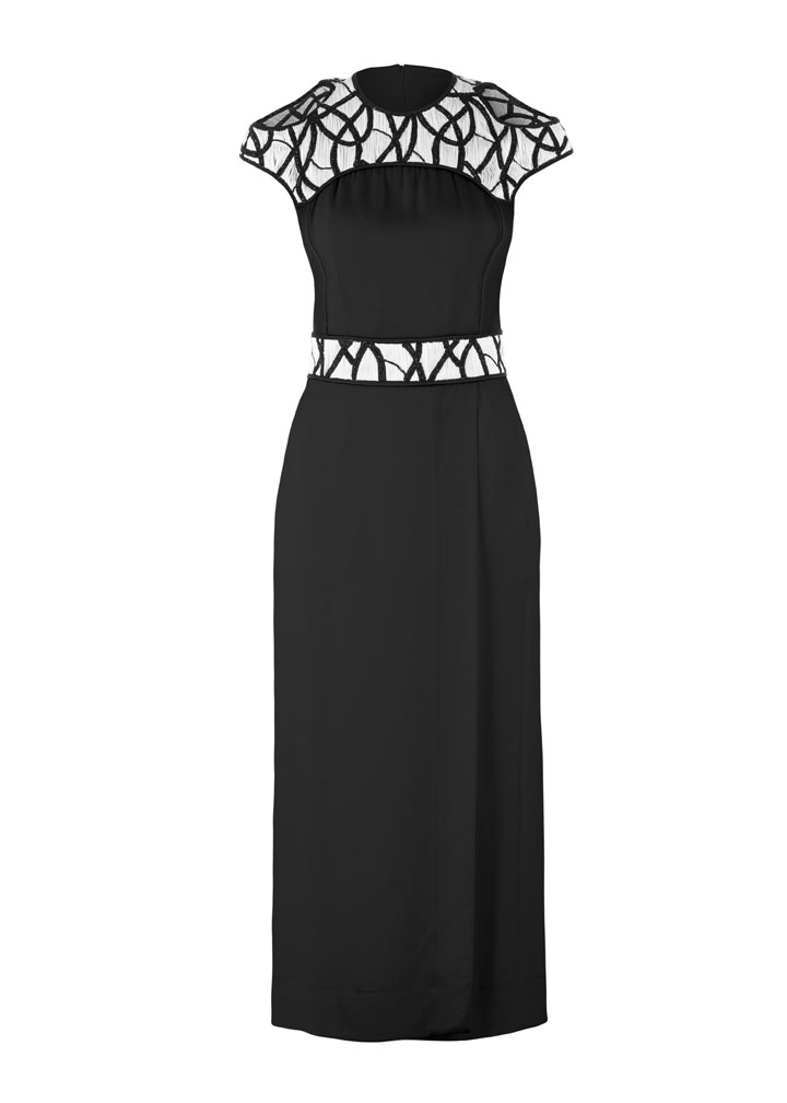 Yigal Azrouel Intertwined Vines Embroidered Crepe Dress: $355 (orig. $1790)