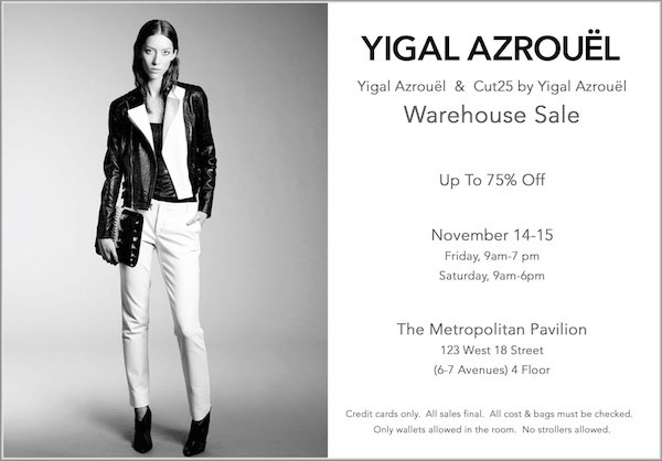 Yigal Azrouel Warehouse Sale