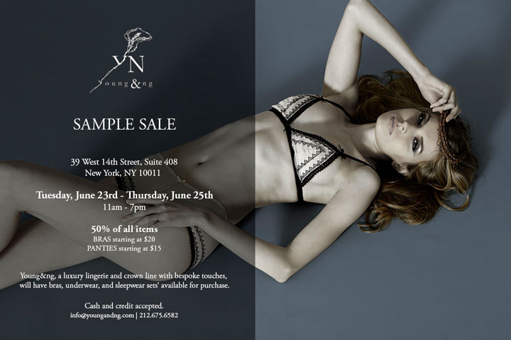 Young & Ng Lingerie Sample Sale