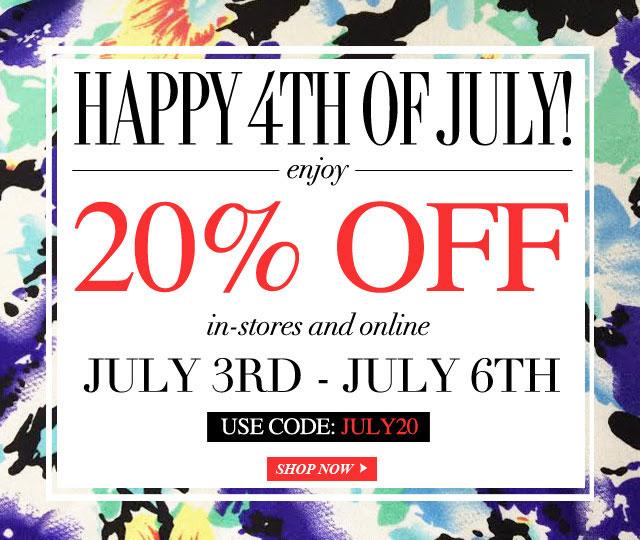 Yumi Kim 4th of July Sale